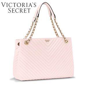 Victoria's Secret Bags - Victoria's Secret Blush V-Quilt Shoulder Tote Bag